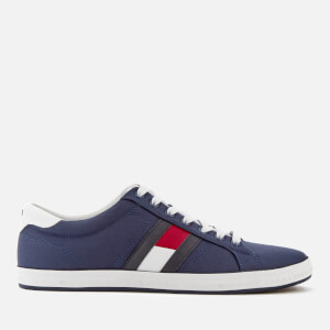 Tommy Hilfiger Men's Essential Flag Details Trainers - Tommy Navy