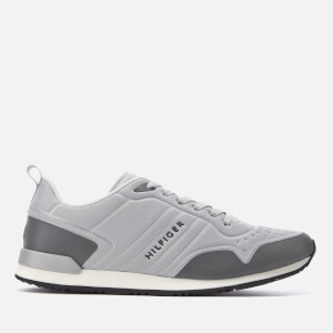 Tommy Hilfiger Men's Iconic Runner Trainers - Light Grey/Steel Grey