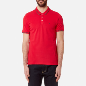 Emporio Armani Men's Small Logo Polo Shirt - Rosso