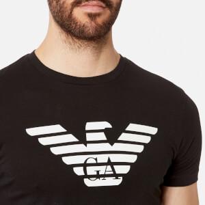 Emporio Armani Men's Aj Chest Logo T-Shirt - Nero: Image 4