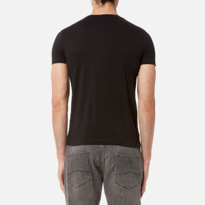 Emporio Armani Men's Aj Chest Logo T-Shirt - Nero: Image 2