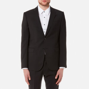 Emporio Armani Men's 2 Button Single Breasted Suit - Nero Nero