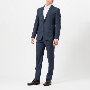 Emporio Armani Men's 2 Button Single Breasted Suit - Bleu