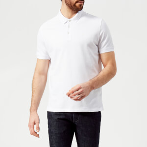 Emporio Armani Men's Small Eagle Polo Shirt - Bianco Ottico