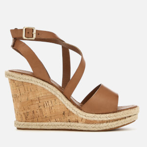 Carvela Women's Kable Leather Wedged Sandals - Tan