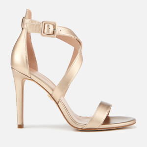 Kurt Geiger London Women's Knightsbridge Cross Strap Leather Heeled Sandals - Bronze