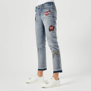 Karl Lagerfeld Women's Captain Karl Girlfriend Denim Jeans - Blue