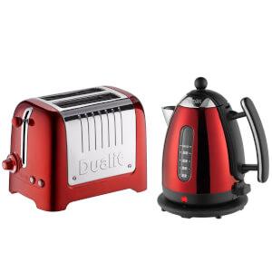 Dualit Jug Kettle and 2 Slot Toaster Bundle - Metallic Red