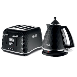 De'Longhi Brilliante 4 Slice Toaster and Kettle Bundle - Black
