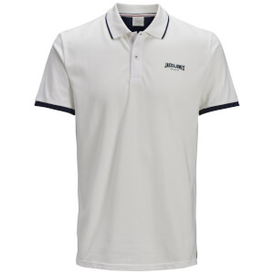 Jack & Jones Men's Originals Retro Polo Shirt - Cloud Dancer