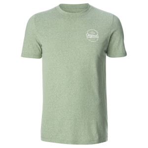 Jack & Jones Men's Originals Breezes Small Logo T-Shirt - Iceberg Green