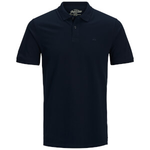 Polo Homme Originals Basic Jack & Jones - Bleu Marine