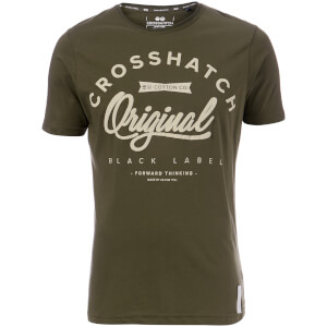 Crosshatch Men's Freemans T-Shirt - Beetle