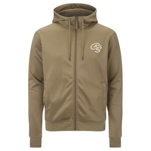 Crosshatch Men's Montanas Tricot Zip Through Hoody - Timber Wolf