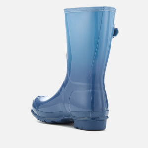 Hunter Women's Original Short Colour Haze Wellies - Tarp Blue/Blue Sky: Image 3