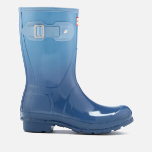 Hunter Women's Original Short Colour Haze Wellies - Tarp Blue/Blue Sky