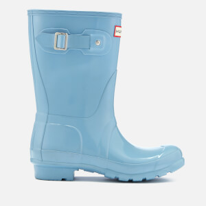 Hunter Women's Original Short Gloss Wellies - Blue Sky