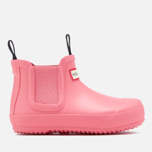Hunter Kids' Flat Sole Chelsea Boots - Panther Pink