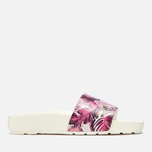 Hunter Women's Original Jungle Print Slide Sandals - White: Image 2
