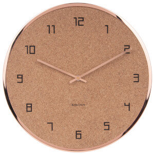 Karlsson Modest Cork Wall Clock - Copper
