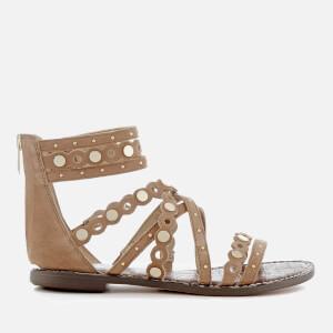 Sam Edelman Women's Geren Suede Gladiator Sandals - Golden Caramel