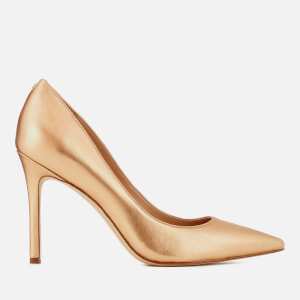 Sam Edelman Women's Hazel Metallic Leather Court Shoes - Golden Copper