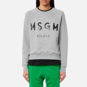 MSGM Women's Graffitti Logo Sweatshirt - Grey