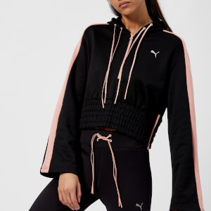 Puma Women's En Pointe Savannah Half Zip Hoodie - Puma Black