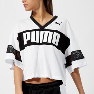 Puma Women's Urban Sports Cropped T-Shirt - Puma White