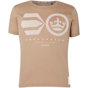 T-Shirt Homme Crisscross Crosshatch - Beige