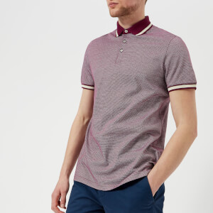 Ted Baker Men's Poodal Stripe Detail Polo Shirt - Purple