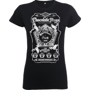 Harry Potter Honeydukes Mono Chocolate Frogs Women's Black T-Shirt