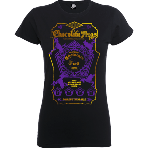 Harry Potter Honeydukes Purple Chocolate Frogs Women's Black T-Shirt