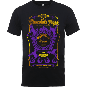 T-Shirt Harry Potter Honeydukes Purple Chocolate Frogs Black - Uomo