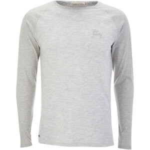 Tokyo Laundry Men's Harwood Long Sleeve Raglan Top - Light Grey Marl