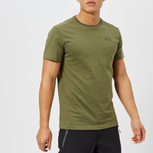 Jack Wolfskin Men's Essential Short Sleeve T-Shirt - Woodland Green