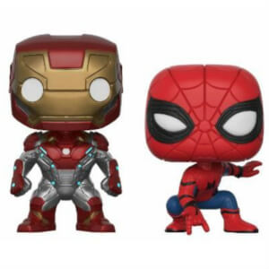 Spider-Man Homecoming Iron Man & Spider-Man Two Pack EXC Pop! Vinyl Figure