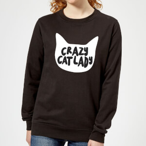 Crazy Cat Lady Women's Sweatshirt - Black