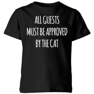 All Guests Must Be Approved By The Cat Kids' T-Shirt - Black
