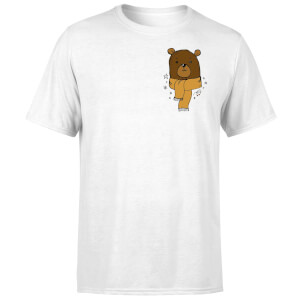 Christmas Bear Pocket T-Shirt - White