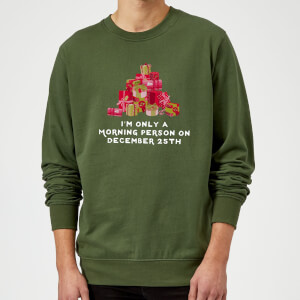 "Sudadera Navidad ""I'm Only A Morning Person"" - Hombre - Verde oscuro"