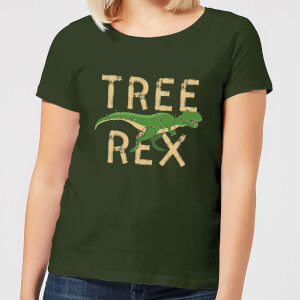 Tree Rex Women's T-Shirt - Forest Green