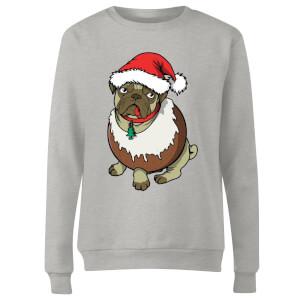 Christmas Puggin Women's Sweatshirt - Grey