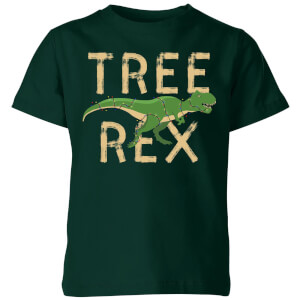 Tree Rex Kids' T-Shirt - Forest Green