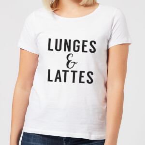 Lunges and Lattes Women's T-Shirt - White