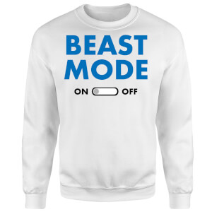 Beast Mode On Sweatshirt - White