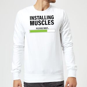 Installing Muscles Sweatshirt - White