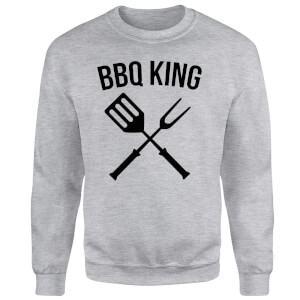 BBQ King Sweatshirt - Grey