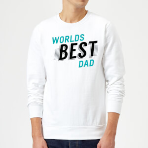 Worlds Best Dad Sweatshirt - White
