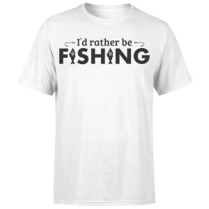 Id Rather be Fishing T-Shirt - White